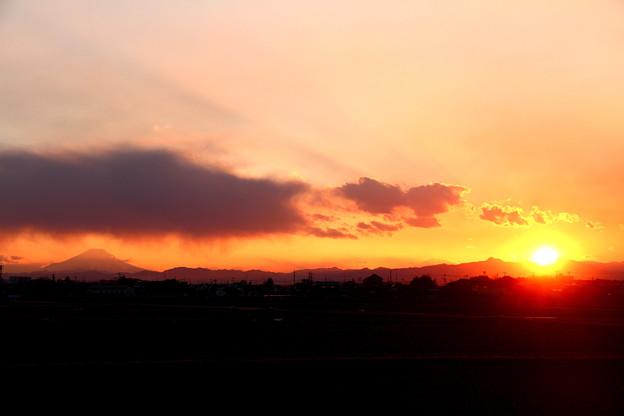 写真: 日没まぎわ