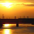 Photos: 新幹線が走る朝景色