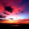 梅雨時の夕空