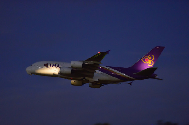 THAI・A380 Departure