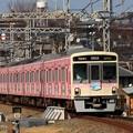 写真: ピンクの京王線