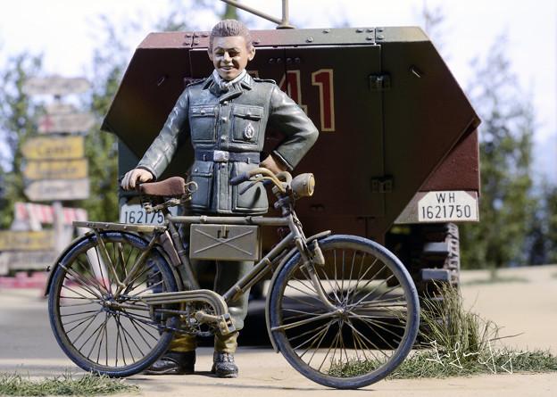 自転車&ドイツ兵
