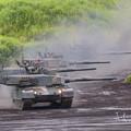 Photos: 90式戦車小隊入場補正