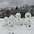 Photos: 雪ダルマ家族