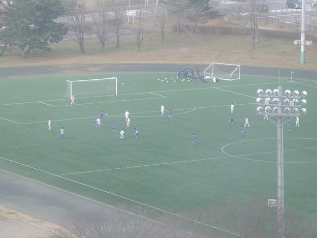 タワーからサッカー練習