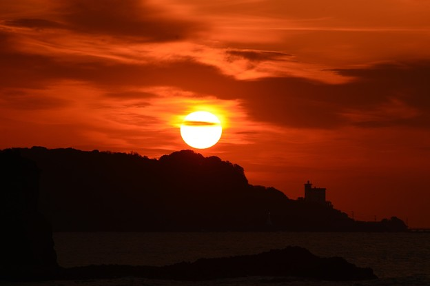 写真: 太陽は丸かった・・・
