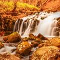 写真: 晩秋の蓼科大滝・・・からくれなゐに 水くくるとは