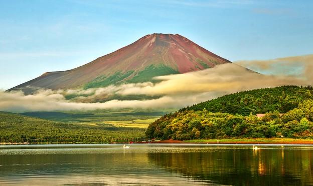夏のあとさき ~赤富士~