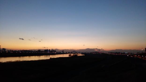 足立区・千住新橋の夕焼け1