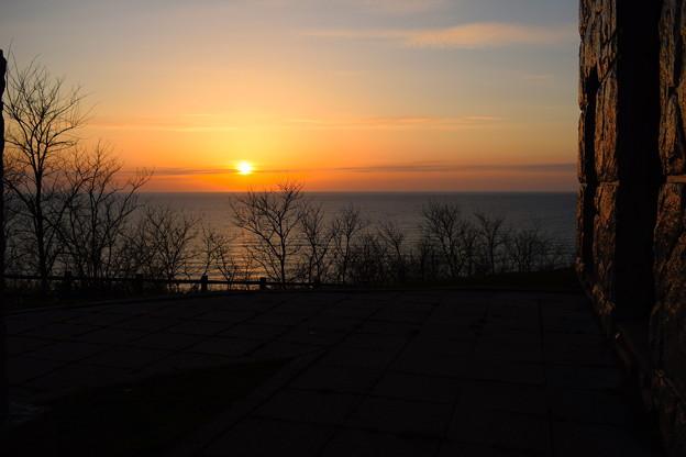 厚田の夕日