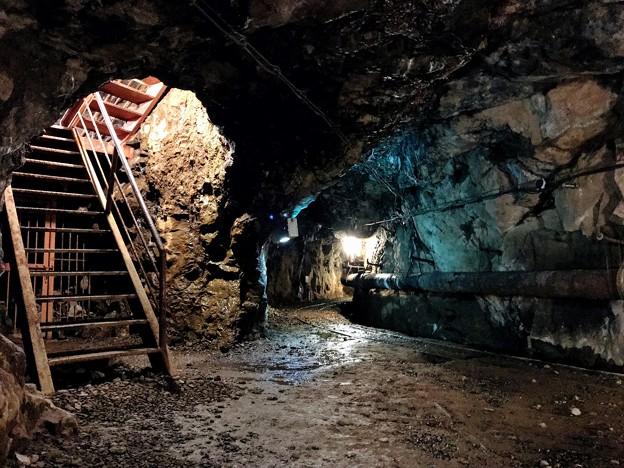 明延鉱山探検坑道 内部