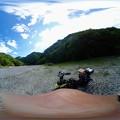 Photos: 【360カメラ】矢筈公園キャンプ場 河原