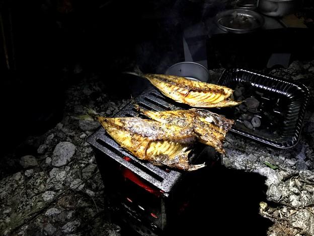 Photos: 干物の炭焼き