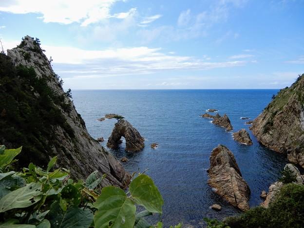 千貫松島とおしろいの断崖