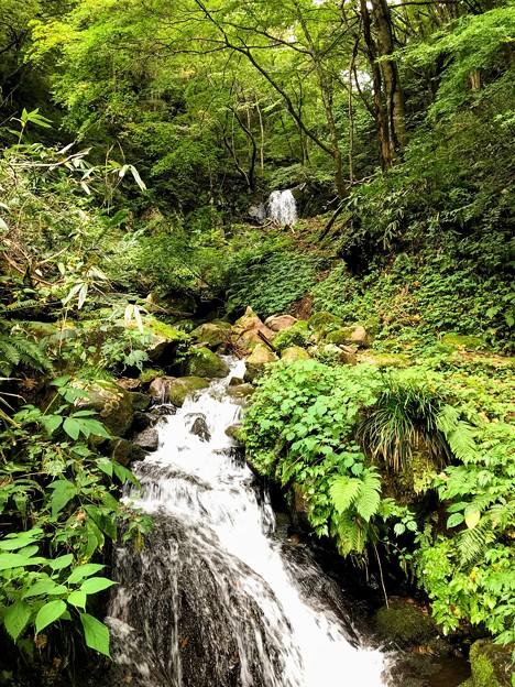 荿平谷の二段滝