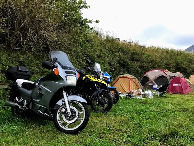 生石高原キャンプ場のバイクサイト
