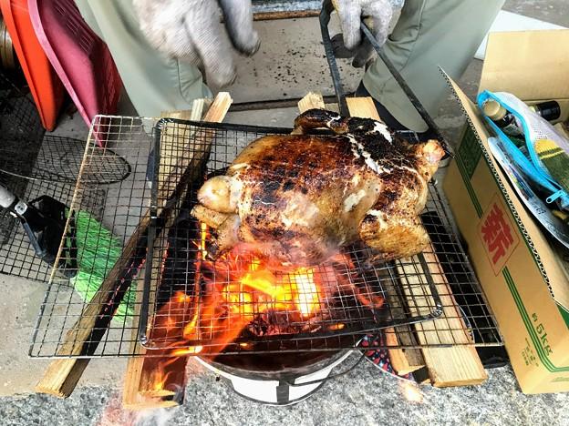 鶏の丸焼き(色々スパイス付)