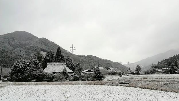 The日本の里山の冬景色