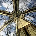 天井全開のキノコテント