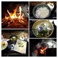 かき祭りのキャンプ飯