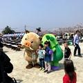 Photos: 篠山のゆるキャラ「まるいの」と「まめりん」