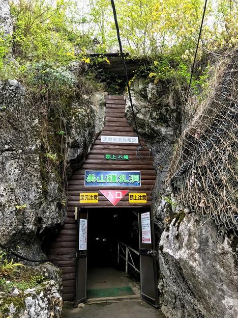 美山鍾乳洞の洞口