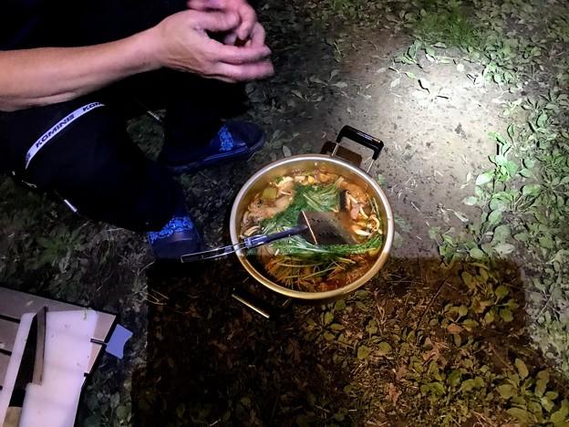 墓ノ木自然公園キャンプ場のキャンプ飯 猪鍋