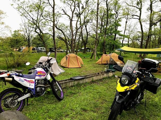 墓ノ木自然公園キャンプ場でも雨・・・