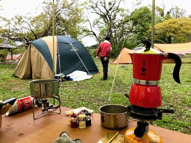墓ノ木自然公園キャンプ場のキャンプ飯 朝食