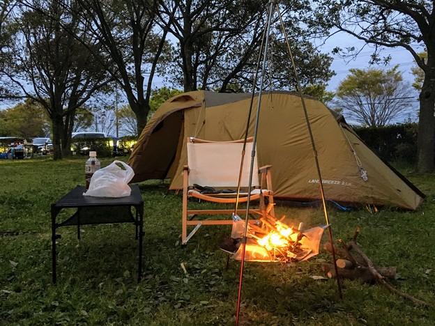 南三ツ谷公園でキャンプ