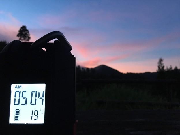 夜明け前は19℃