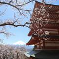 忠霊塔と富士2