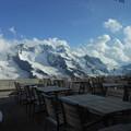 スイス・3100クルムホテル・ゴルナーグラート・メインダイニングからの風景