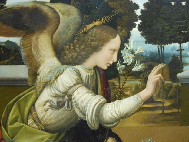 イタリア フィレンツェ ウッフィツィ美術館*レオナルド・ダ・ヴィンチ・・受胎告知2