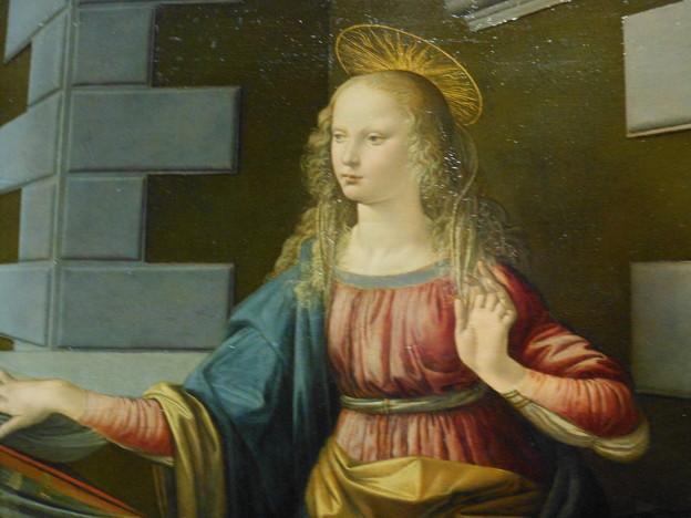 イタリア フィレンツェ ウッフィツィ美術館*レオナルド・ダ・ヴィンチ・・受胎告知3