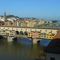 イタリア・フィレンツェ*ウッフィツィ美術館から見たポンテ・ヴェッキオ橋