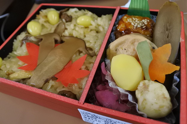 新幹線車内でお弁当♪2