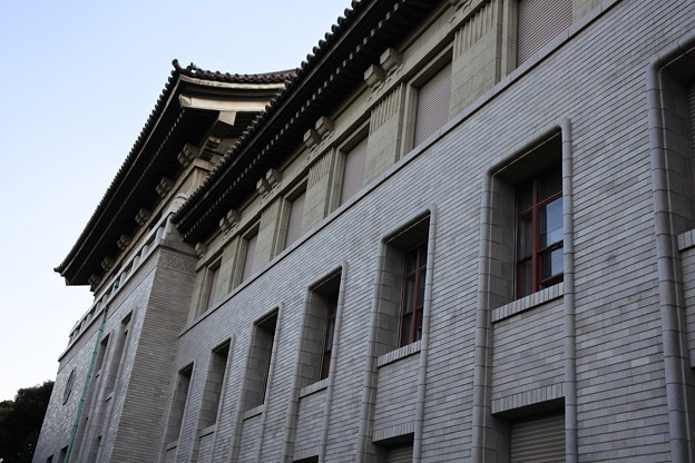東博は建物が重要文化財です。