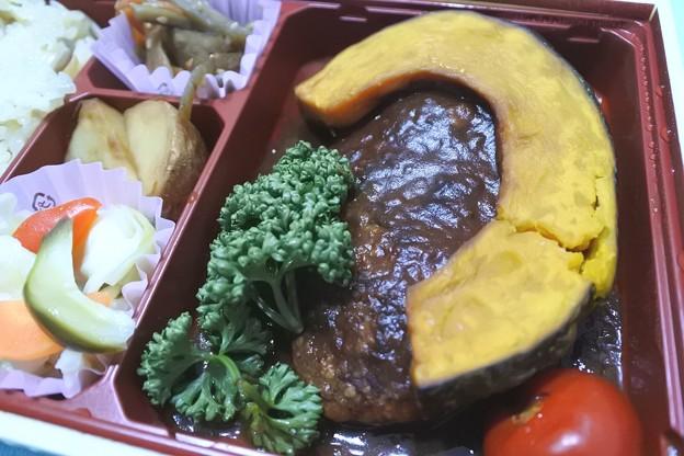 つばめグリル*きのこご飯ハンバーグ弁当3