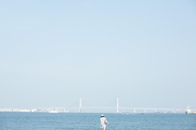 海に向かう