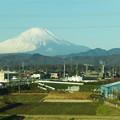 写真: 神奈川からの富士山
