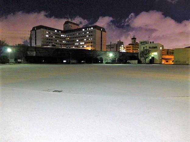 雪夜の公園