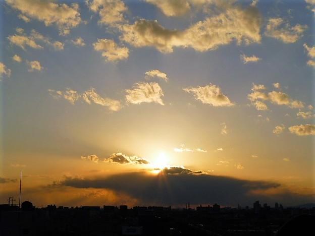 大阪の夕焼け