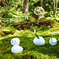 雪兎とわらべ地蔵