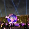 写真: ユニバーサルグローブ ライトアップ