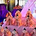 淡いピンク色の華やかな十人囃子