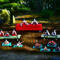 Photos: お庭に飾られたおひな様(曲水の宴)