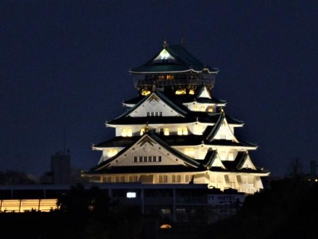 桜ノ宮から見える大阪城 天守閣