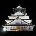 写真: 夜の大阪城 天守閣