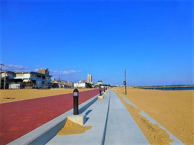 海でお散歩